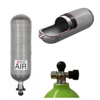 SCBA / Right Angle Valved Cylinders - EZ Flo- DV and Scott Sight TIC