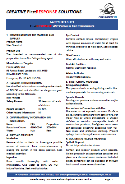 chemical safety data sheet pdf